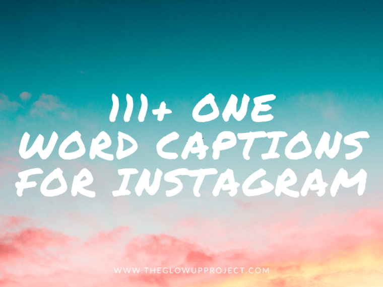 instagram captions one word