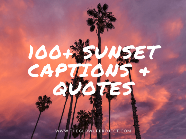 sunset captions for instagram