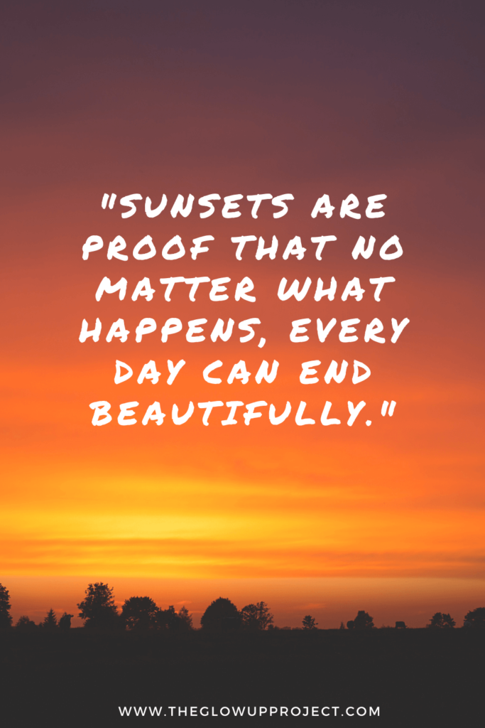 sunset quote for instagram